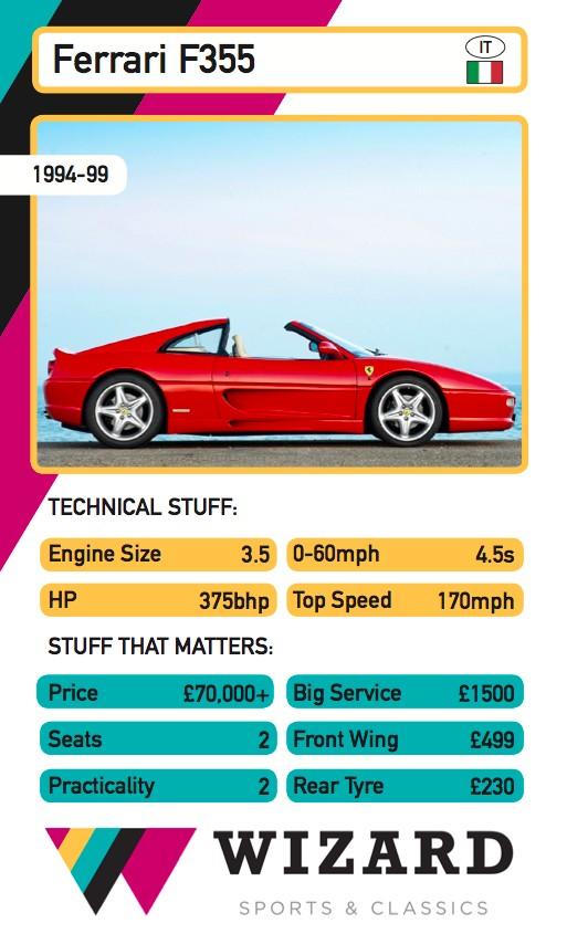 Ferrari F355 Top Trumps