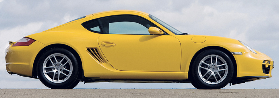 porsche cayman 987 yellow